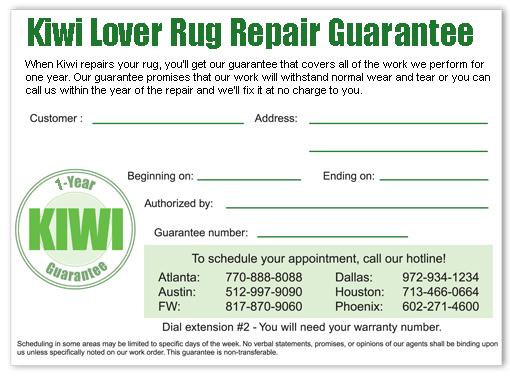 Rug Repair Guarantee
