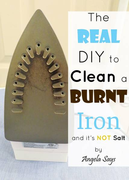 The Real DIY to Clean a Burnt Iron
