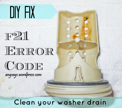 How to fix an F21 error code