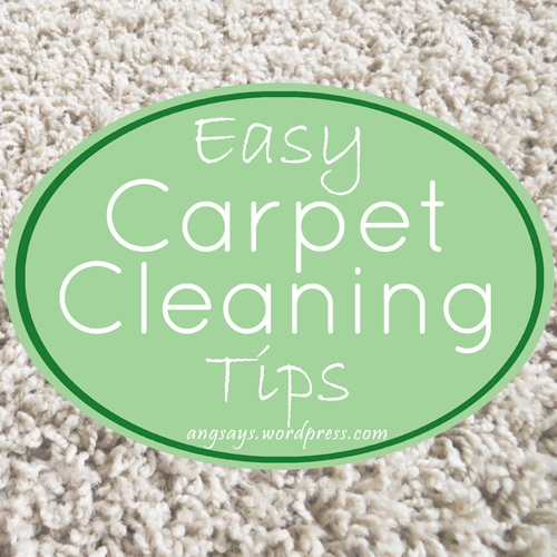 Easy Carpet Cleaning Tips