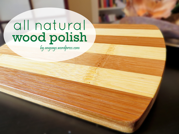 All Natural Wood Polish Angela Saysangela Says