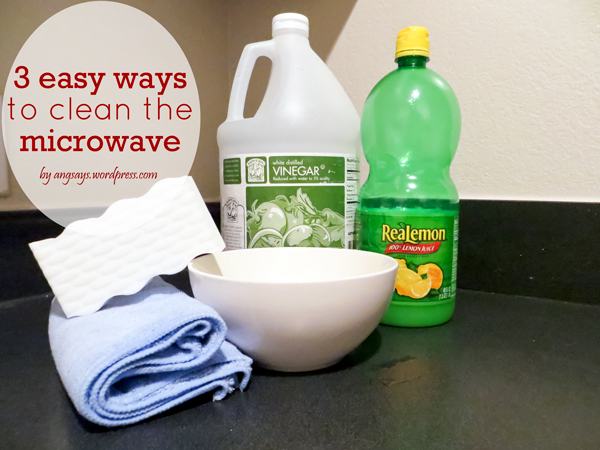 EASY WAY TO CLEAN MICROWAVE