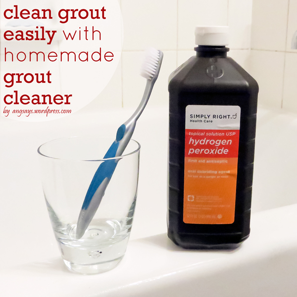 Homemade Grout Cleaner by Angela Says