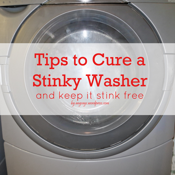 Get rid of washer smell by Angela Says
