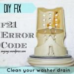 washer drain