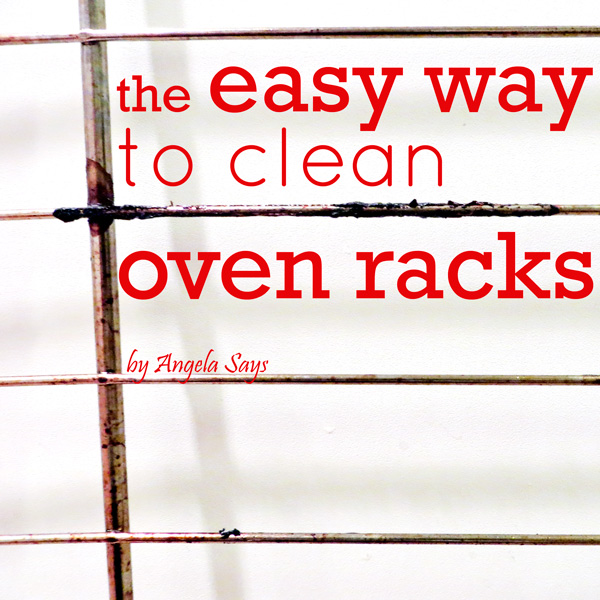 The Easy Way To Clean Oven Racks Angela Saysangela Says