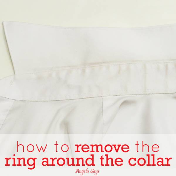 How to Remove Shirt Collar Stain