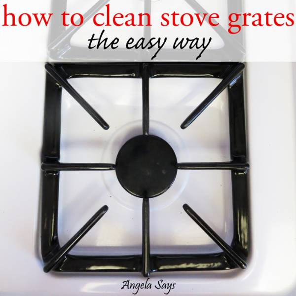 cleaning stove grates the easy way