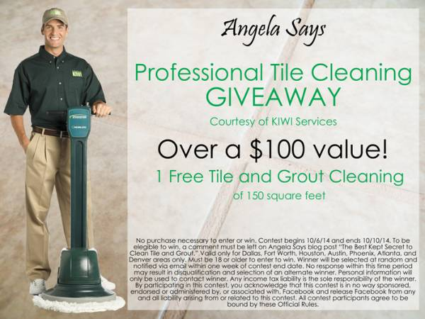 Tile and Grout Cleaning Giveaway