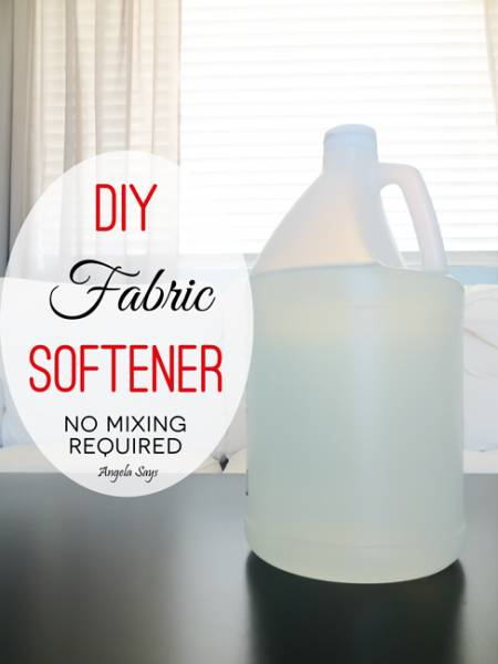 DIY Fabric Softener – No Mixing Required