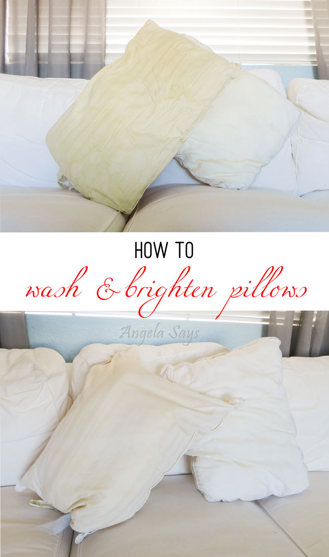 How to Wash and Brighten Pillows