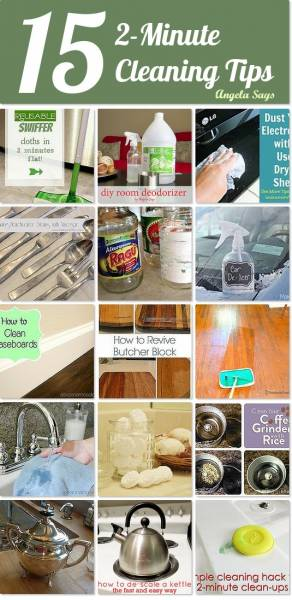 15 Quick and Easy Cleaning Tips