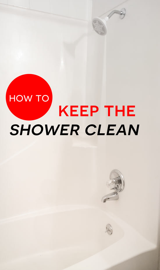 How to keep the shower clean angela says for How to keep a bathroom clean