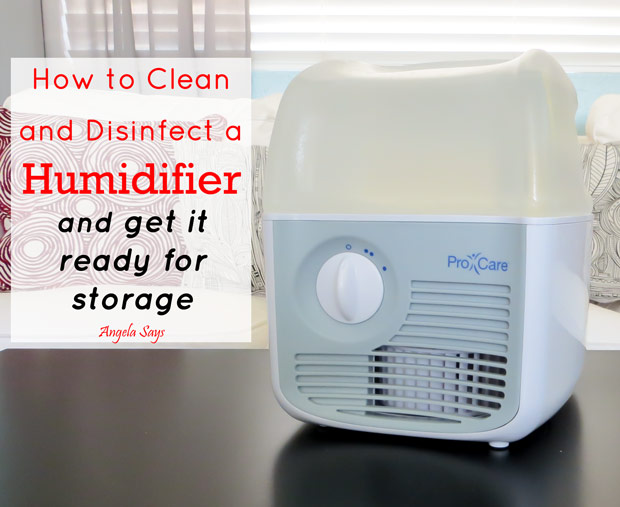I was amazed at how quickly mildew and hard water built up in the filter but I have figured out an easy way to clean and disinfect my humidifier.