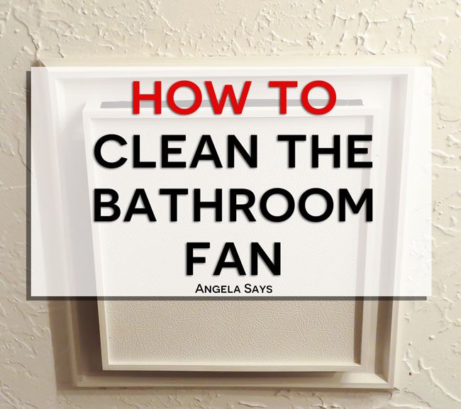 Clean Bathroom Fan