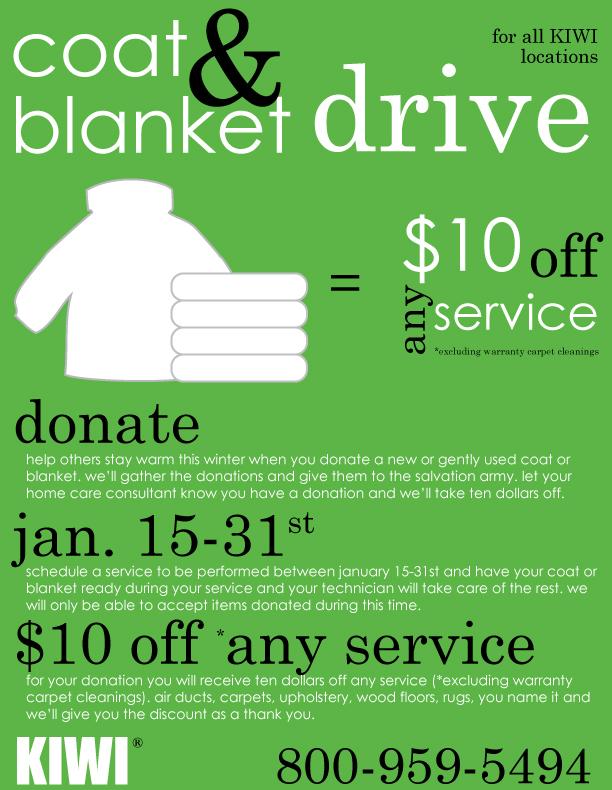 KIWI's Coat and Blanket Drive