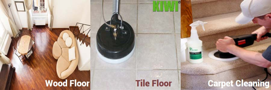 clean wood tile floors and carpet being cleaned