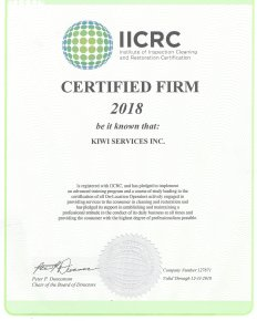 iicrc certificate cleaning certification firm kiwi kiwiservices