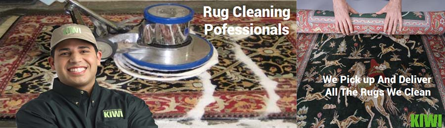 Rug cleaning with buffer
