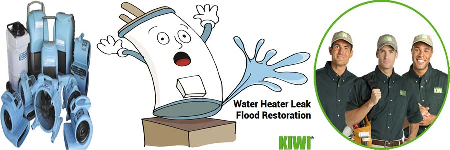 Water Heater Flooded and Restoration Equipment And Pro Techs