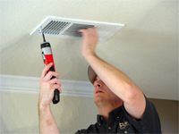 air duct and remove debris and dust