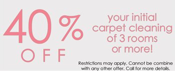 Carpet Cleaning Special 40% Off