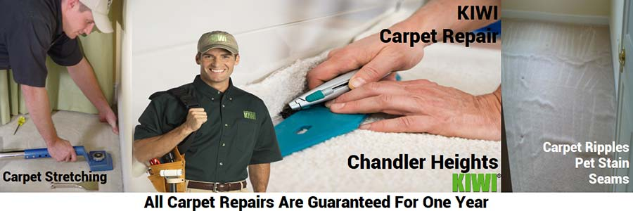 Chandler Heights Carpet repair and stretching by tech