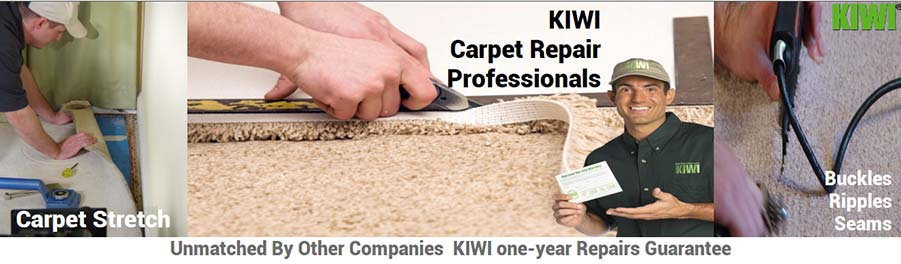 Carpet repairs performed by tech