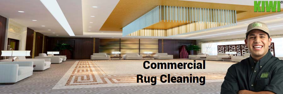 clean commercial rug