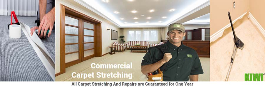 commercial carpet stretching by pro tech