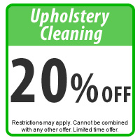 Kiwi Coupon 20% off Upholstery Cleaning