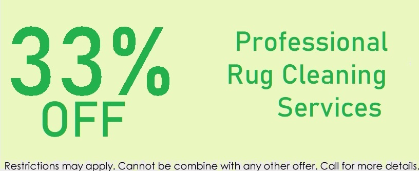 Rug cleaning services special 33%