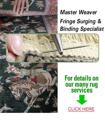 Rug Weaving, Repair by Oriental Rug Weavers