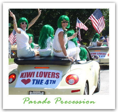 Kiwi Lovers March In 4th Of July Parade In Highland Park Tx