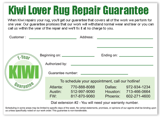 Rug Repair Guarantee